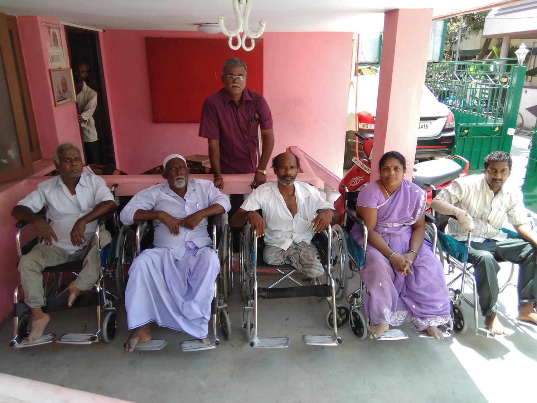 Wheelchair group photos